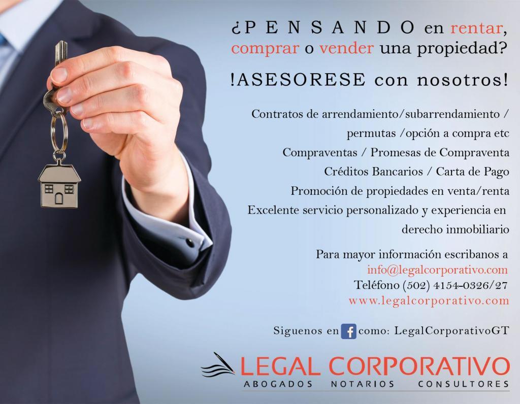 Legal Corporativo Servicios Inmobiliarios Venta Renta
